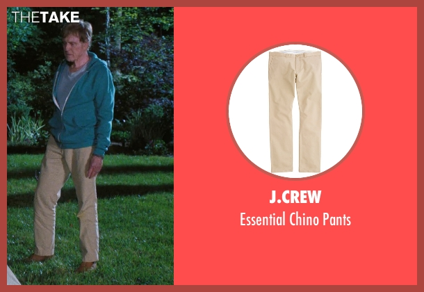 J.Crew beige pants from A Walk in the Woods seen with Robert Redford (Bill Bryson)