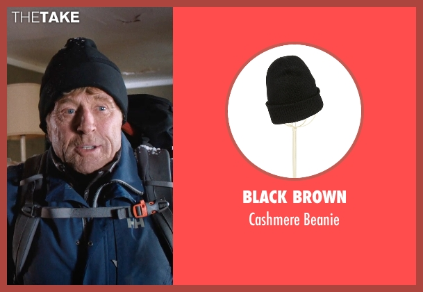 Black Brown black beanie from A Walk in the Woods seen with Robert Redford (Bill Bryson)