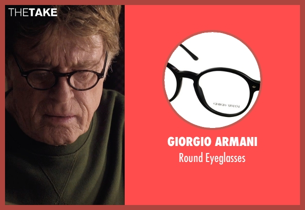 Giorgio Armani black eyeglasses from A Walk in the Woods seen with Robert Redford (Bill Bryson)