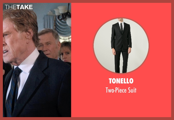 Tonello black suit from A Walk in the Woods seen with Robert Redford (Bill Bryson)