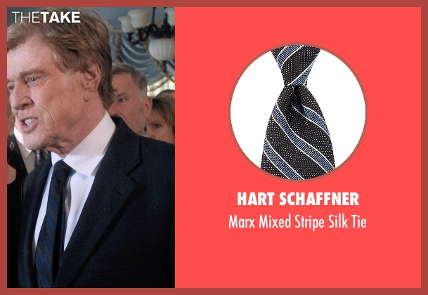 Hart Schaffner black tie from A Walk in the Woods seen with Robert Redford (Bill Bryson)