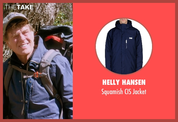 Helly Hansen blue jacket from A Walk in the Woods seen with Robert Redford (Bill Bryson)
