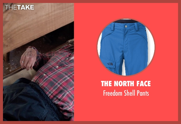 The North Face blue pants from A Walk in the Woods seen with Robert Redford (Bill Bryson)