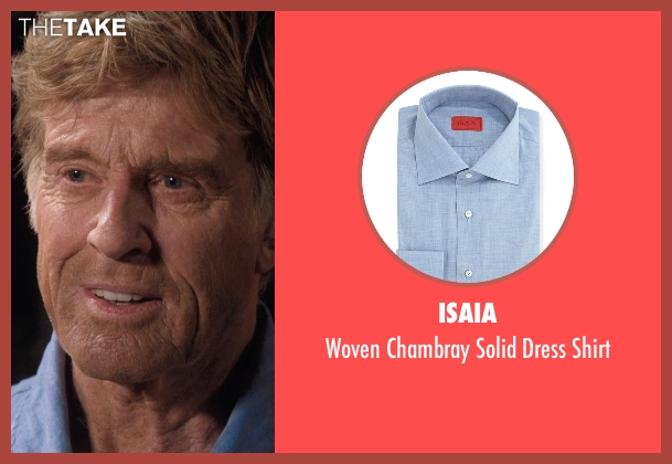 Isaia	 blue shirt from A Walk in the Woods seen with Robert Redford (Bill Bryson)