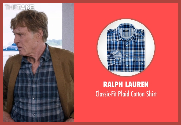 Ralph Lauren blue shirt from A Walk in the Woods seen with Robert Redford (Bill Bryson)