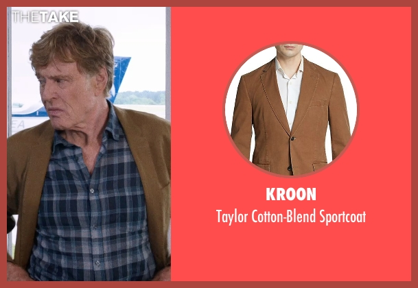 Kroon brown sportcoat from A Walk in the Woods seen with Robert Redford (Bill Bryson)
