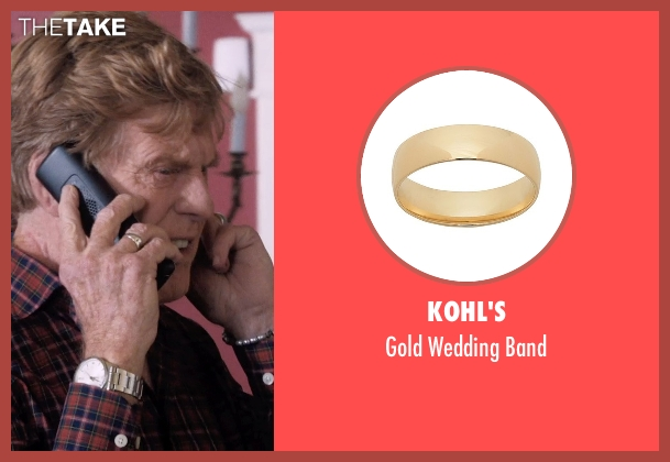 Kohl's gold band from A Walk in the Woods seen with Robert Redford (Bill Bryson)