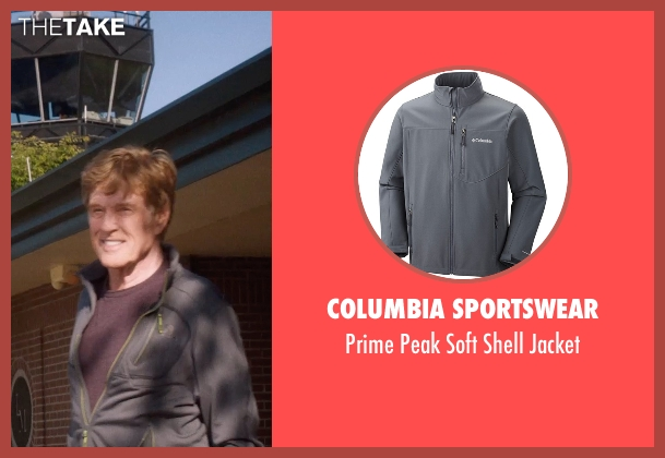 Columbia Sportswear gray jacket from A Walk in the Woods seen with Robert Redford (Bill Bryson)