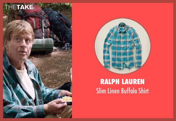 Ralph Lauren green shirt from A Walk in the Woods seen with Robert Redford (Bill Bryson)
