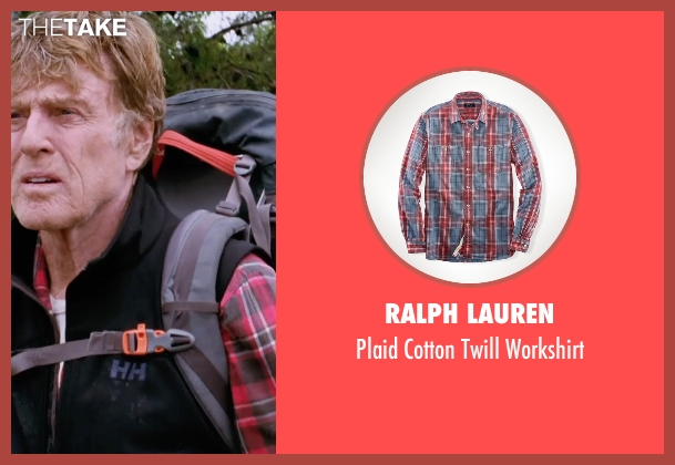 Ralph Lauren red workshirt from A Walk in the Woods seen with Robert Redford (Bill Bryson)