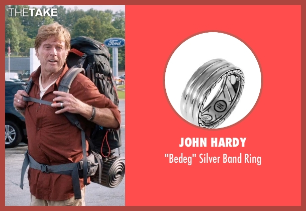 John Hardy silver ring from A Walk in the Woods seen with Robert Redford (Bill Bryson)
