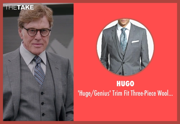 HUGO gray suit from Captain America: The Winter Soldier seen with Robert Redford (Alexander Pierce)