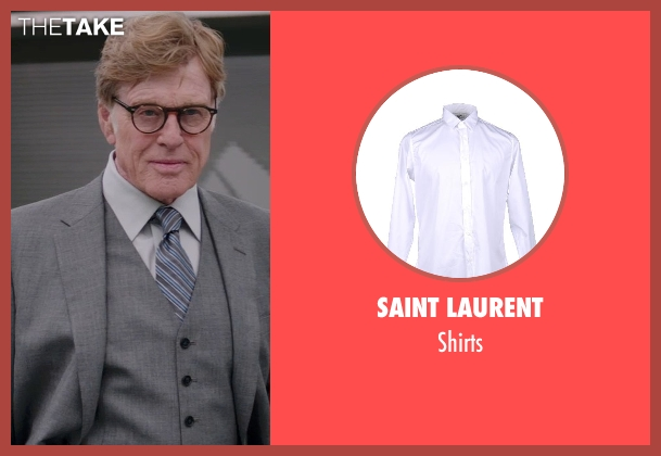 SAINT LAURENT white shirts from Captain America: The Winter Soldier seen with Robert Redford (Alexander Pierce)