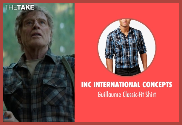 INC International Concepts blue shirt from Pete's Dragon seen with Robert Redford (Grace's Father)
