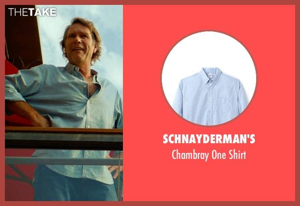 Schnayderman's blue shirt from Focus seen with Robert Taylor (McEwen)
