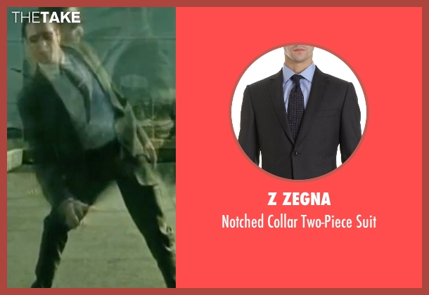 Z Zegna black suit from The Matrix seen with Robert Taylor (Agent Jones)