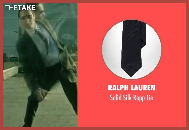 Ralph Lauren black tie from The Matrix seen with Robert Taylor (Agent Jones)