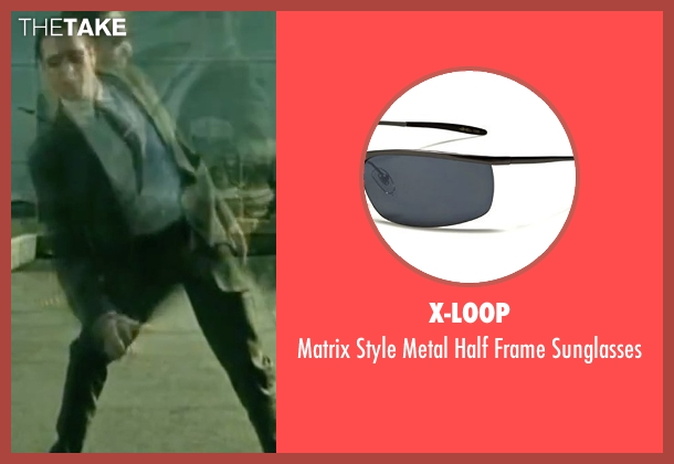 X-Loop sunglasses from The Matrix seen with Robert Taylor (Agent Jones)