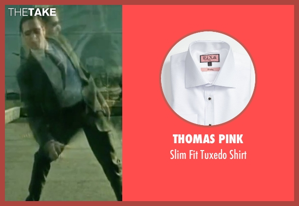 Thomas Pink white shirt from The Matrix seen with Robert Taylor (Agent Jones)