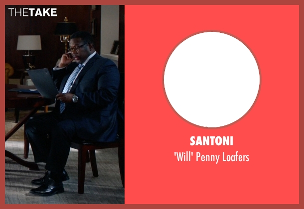 Santoni black loafers from Suits seen with Robert Zane (Wendell Pierce)