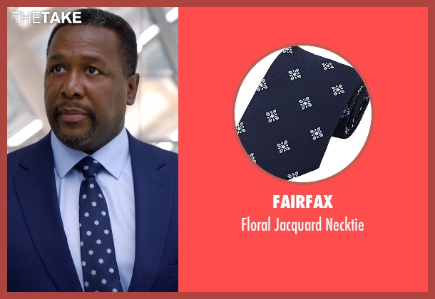 Fairfax blue necktie from Suits seen with Robert Zane (Wendell Pierce)