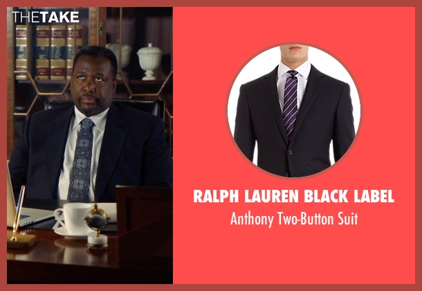 Ralph Lauren Black Label blue suit from Suits seen with Robert Zane (Wendell Pierce)