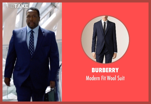 Burberry blue suit from Suits seen with Robert Zane (Wendell Pierce)