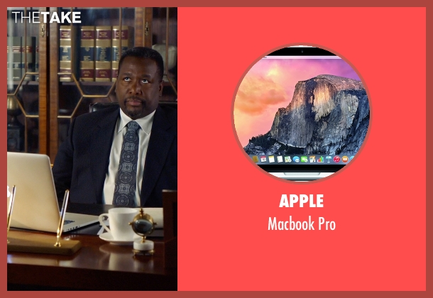 Apple pro from Suits seen with Robert Zane (Wendell Pierce)