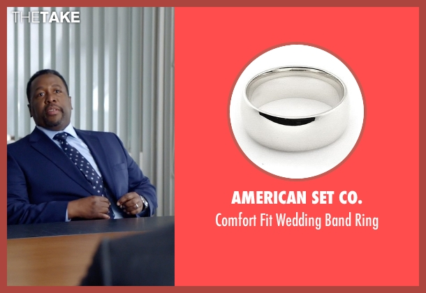 American Set Co. white ring from Suits seen with Robert Zane (Wendell Pierce)