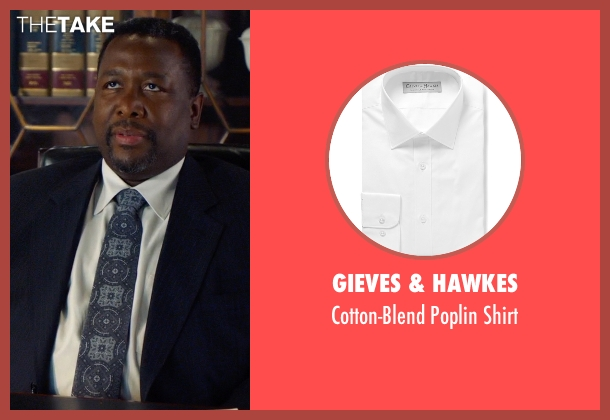 Gieves & Hawkes white shirt from Suits seen with Robert Zane (Wendell Pierce)