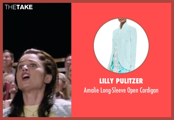 Lilly Pulitzer blue cardigan from My All American seen with Robin Tunney (Gloria Steinmark)
