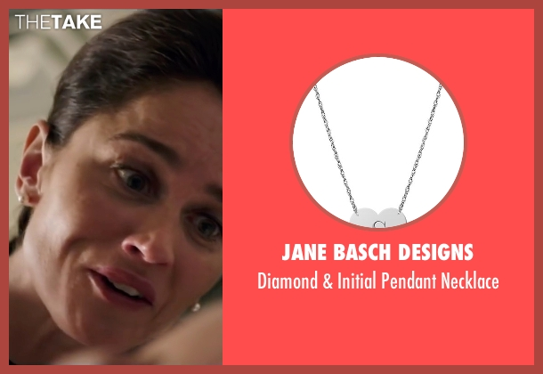 Jane Basch Designs silver necklace from My All American seen with Robin Tunney (Gloria Steinmark)