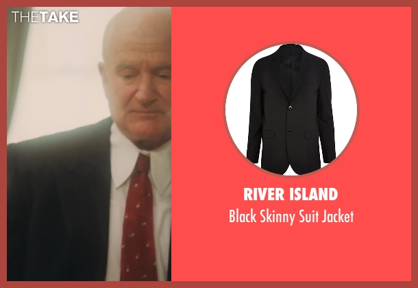 River Island black jacket from Lee Daniels' The Butler seen with Robin Williams (Dwight D. Eisenhower)