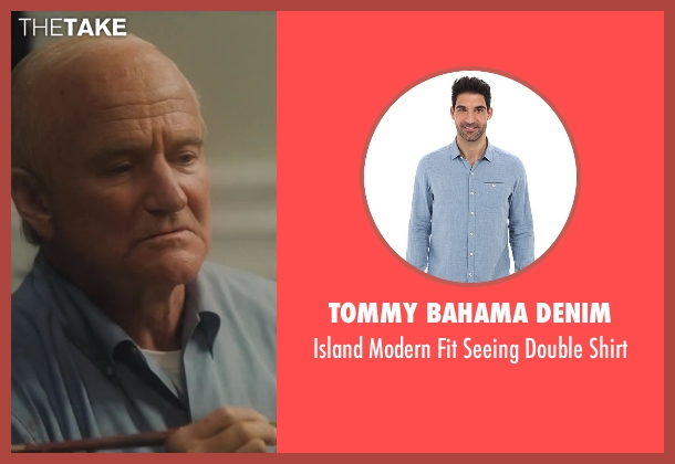 Tommy Bahama Denim blue shirt from Lee Daniels' The Butler seen with Robin Williams (Dwight D. Eisenhower)