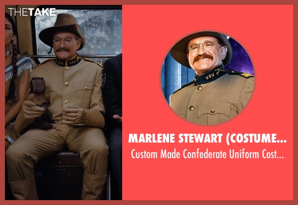 Marlene Stewart (Costume Designer) costume from Night at the Museum: Secret of the Tomb seen with Robin Williams (Theodore Roosevelt)