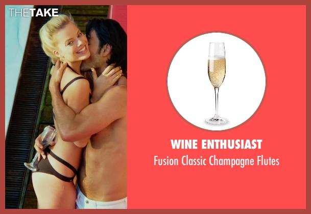 Wine Enthusiast flutes from Focus seen with Rodrigo Santoro (Garriga)