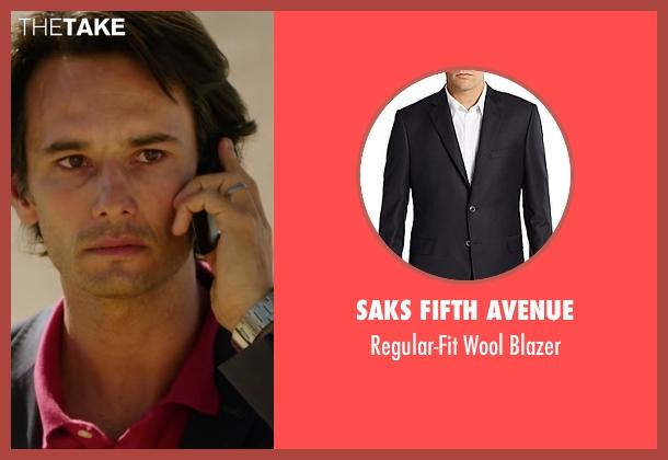 Saks Fifth Avenue black blazer from The 33 seen with Rodrigo Santoro (Laurence Golborne)
