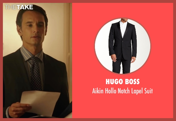 Hugo Boss black suit from The 33 seen with Rodrigo Santoro (Laurence Golborne)
