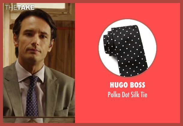 Hugo Boss black tie from The 33 seen with Rodrigo Santoro (Laurence Golborne)