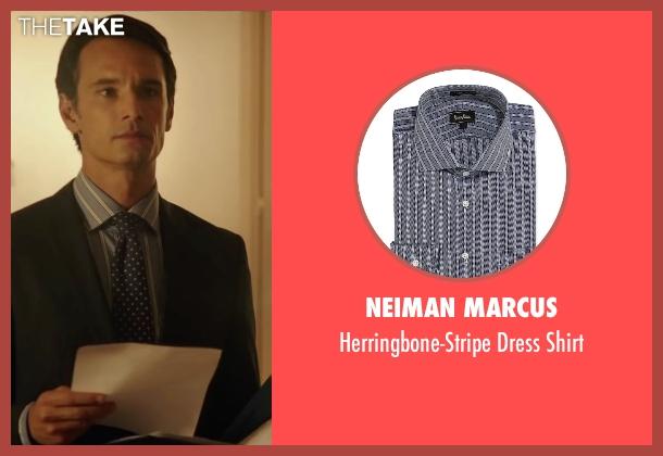 Neiman Marcus blue shirt from The 33 seen with Rodrigo Santoro (Laurence Golborne)