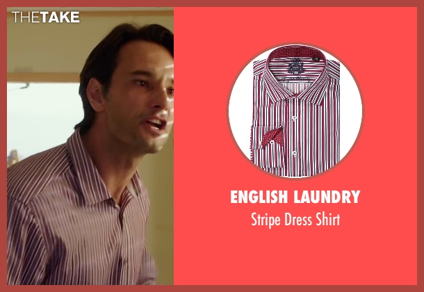 English Laundry red shirt from The 33 seen with Rodrigo Santoro (Laurence Golborne)