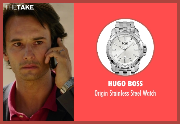 Hugo Boss silver watch from The 33 seen with Rodrigo Santoro (Laurence Golborne)