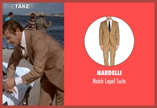 Nardelli beige suits from The Spy Who Loved Me seen with Roger Moore (James Bond)