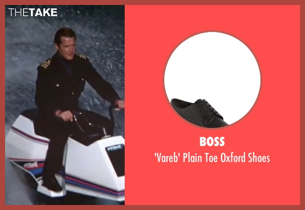 Boss black shoes from The Spy Who Loved Me seen with Roger Moore (James Bond)