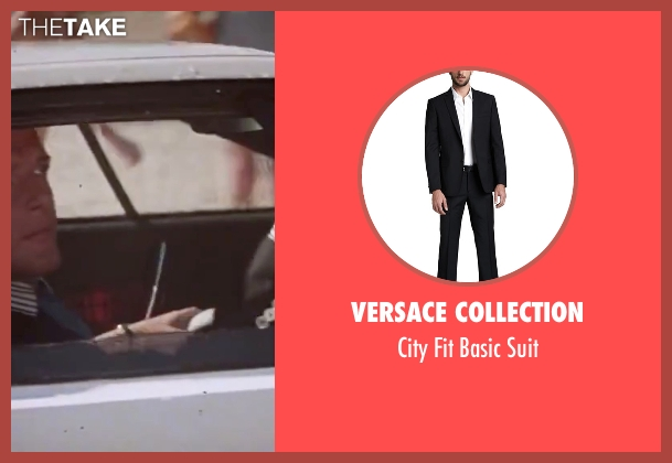 Versace Collection black suit from The Spy Who Loved Me seen with Roger Moore (James Bond)