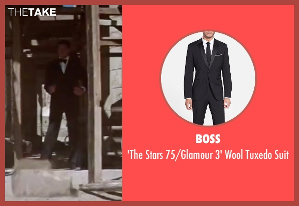 Boss black suit from The Spy Who Loved Me seen with Roger Moore (James Bond)