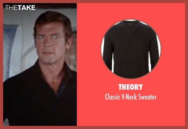 Theory black sweater from The Spy Who Loved Me seen with Roger Moore (James Bond)