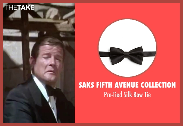 Saks Fifth Avenue Collection black tie from The Spy Who Loved Me seen with Roger Moore (James Bond)