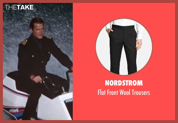 Nordstrom black trousers from The Spy Who Loved Me seen with Roger Moore (James Bond)