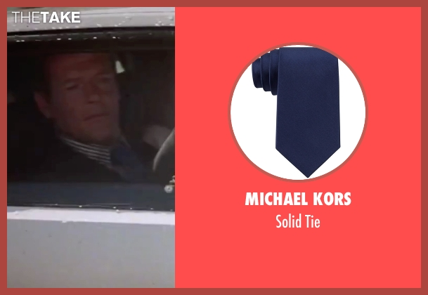 Michael Kors blue tie from The Spy Who Loved Me seen with Roger Moore (James Bond)